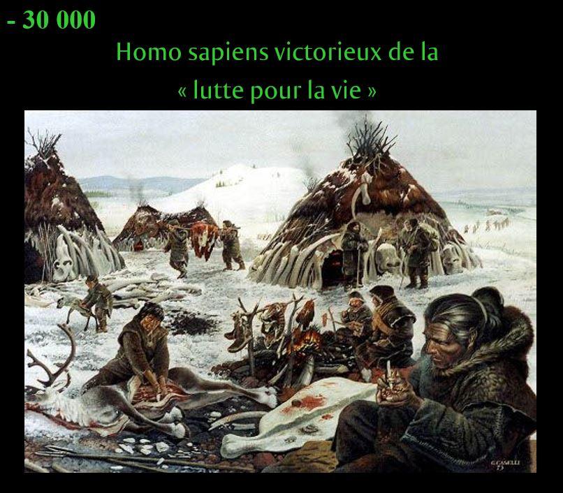 """Homo sapiens victorieux de la """"lutte pour la vie"""""""